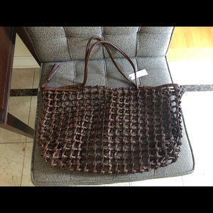 Anthropologie mesh bag New!